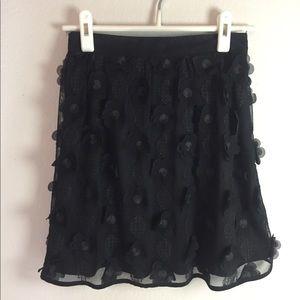 Alya Black Flower Skirt
